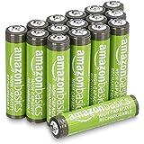 Amazon Basics - Pilas AAA recargables de alta capacidad, 850 mAh (paquete de 16), precargadas