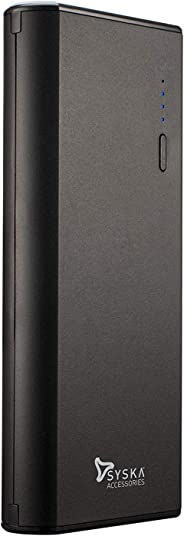 Syska Power Port100 10000mAH Lithium-Ion Power Bank (Black)