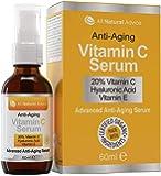 Vitamin C Serum Hochdosiert 20% 60ml | Vegane Kosmetik für Gesicht – Dekolleté | Mit Hyaluronsäure und Aminosäurekomplex…