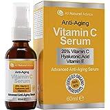 Serum met 20% Vitamine C - 60 ml / 2 fl oz gemaakt in Canada - ingrediënten met een biologisch keurmerk + 11% hyaluronzuur +