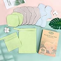 Viedouce Serviettes Hygiéniques Réutilisables,Super Absorbance Tissu d'hygiène en Bambou,Réutilisables Serviettes…