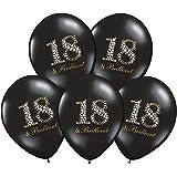 """Unbekannt PartyDeco 10 Luftballons 12"""" Party Geburtstag Jahrestag (Zahl 18 Brilliant)"""