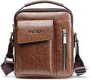 Genuine Leather Men Messenger Bag Shoulder Bags for Mens Everyday Casual Handbag