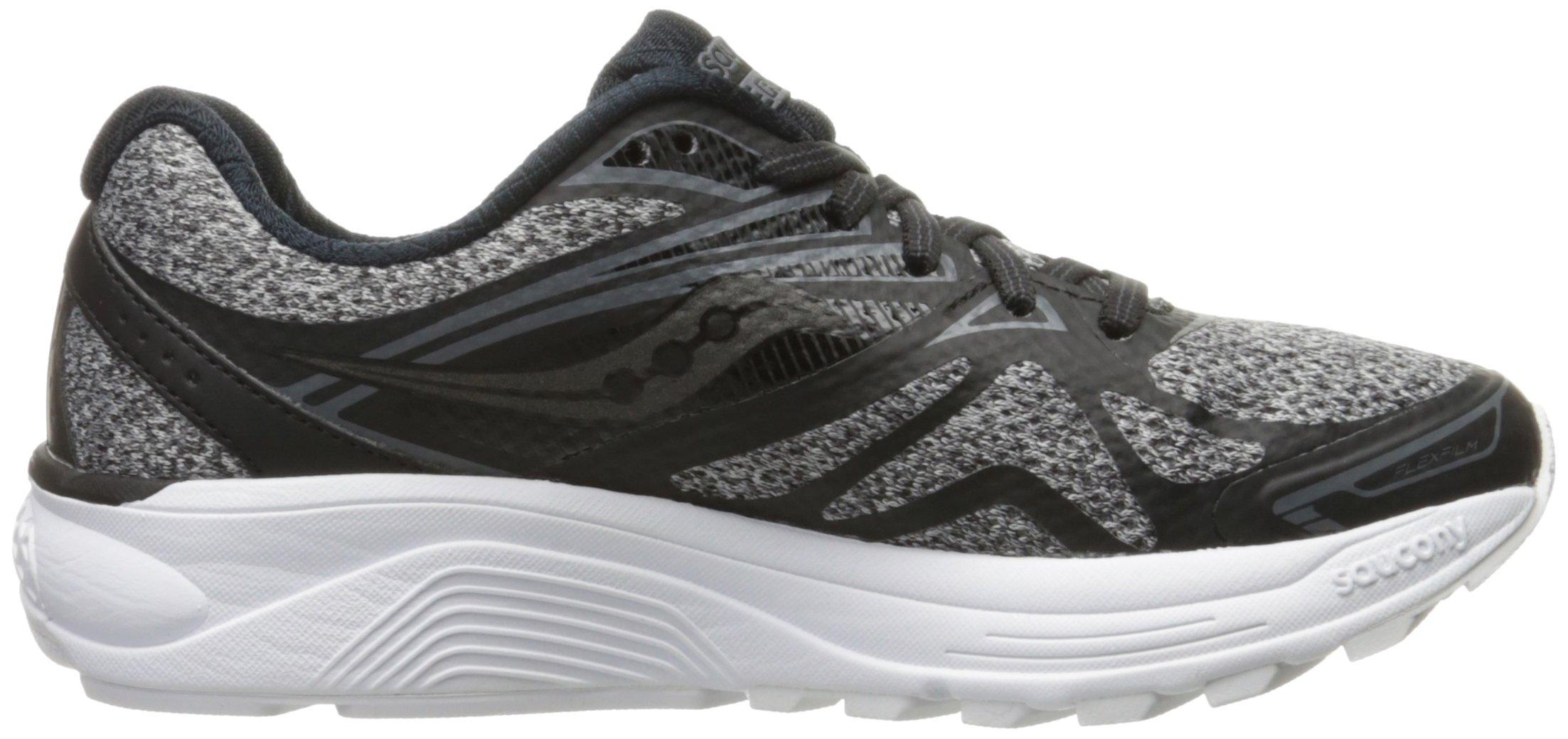717WcHbDUFL - Saucony Women's Ride 9 Lr Running Shoe, Grey/Black, 5 M US