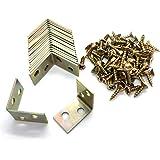 ALLINICE 20 stuks 25x25x16mm 90 graden metalen haakse beugel planksteun met 80 stuks schroeven