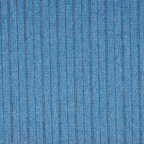 MIRABLAU DESIGN Stoffverkauf Baumwolle Denim Jeans Stoff blau Streifen (13-011M), 0,5m -