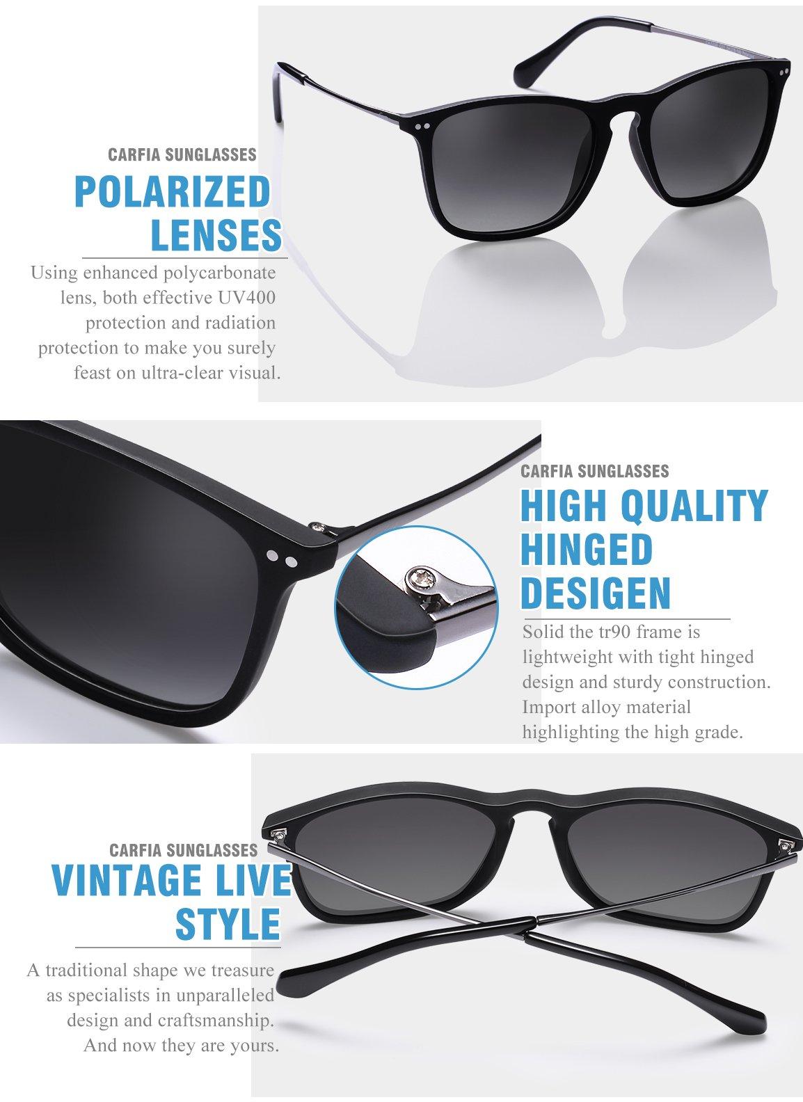 Carfia Gafas de Sol Hombre Mujer UV400 Protección Gafas de Sol ... df92c5fbcaf0