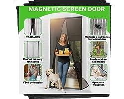 Zanzariera Magnetica per Porte 80 x 200CM, 2021 Materiale Fine Aggiornato Anti-insetti Magnetica Zanzariera, Chiusura Automat