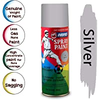 ABRO SP-36 Multipurpose Colour Spray Paint Can for Cars and Bikes (Silver, 400ml)