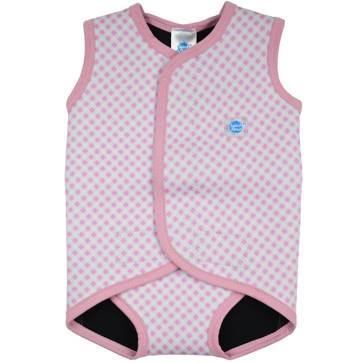 Splash About, Costume da bagno in neoprene per neonati, Rosa (Pink Gingham), 18-30 mesi