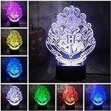HLDWMX 3D Lampe Illusion Optique LED Sommeil léger Fille Veilleuse, Optiques Illusions Lampe de Nuit 7 Couleurs Tactile Lampe