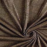 Fabulous Fabrics Viskosestrick Gold schwarz — Meterware ab 0,5m — zum Nähen von Abend- und Partymode, Röcken und Kleidern