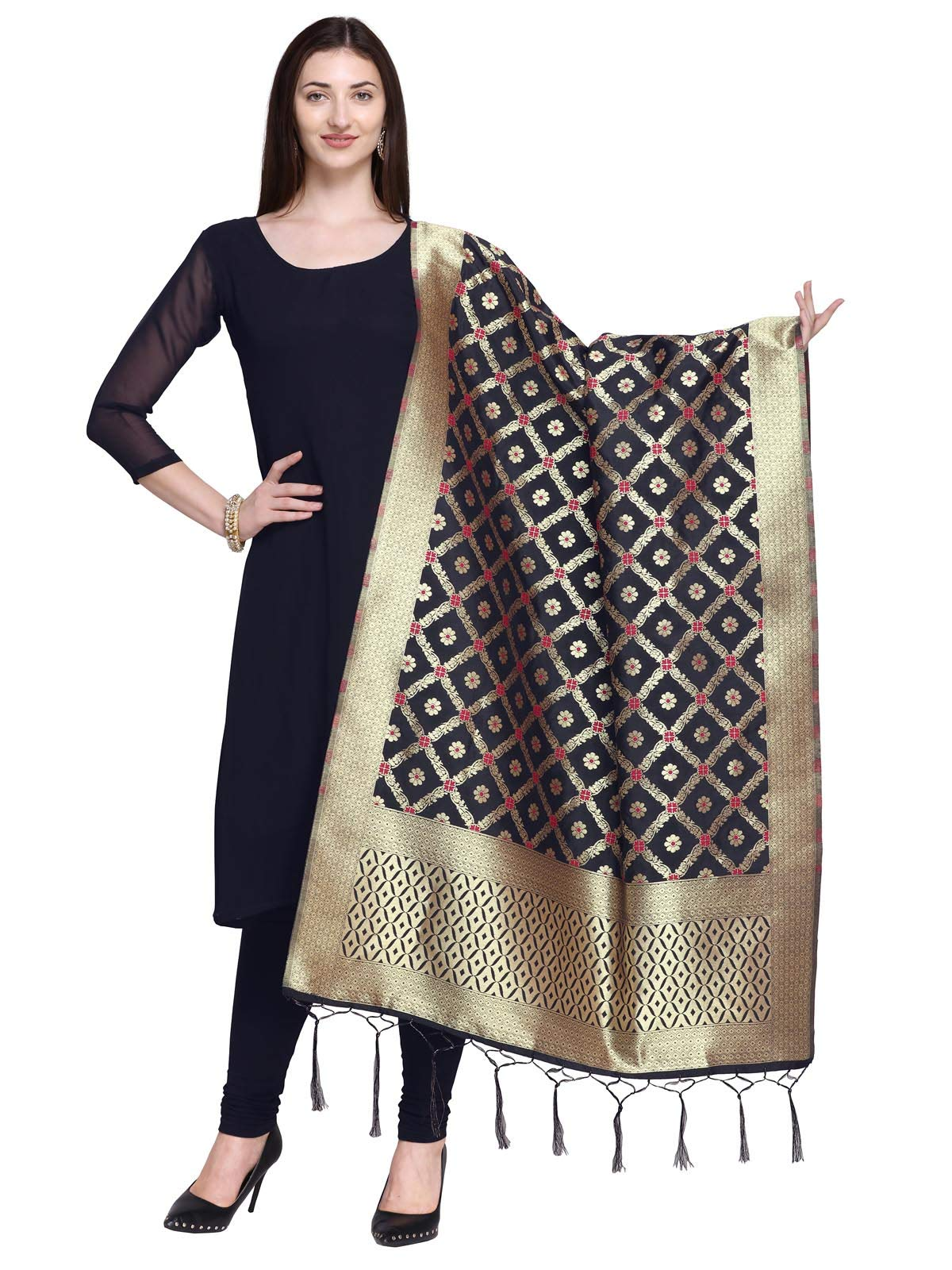 Kanchnar Silk Dupatta with Banrasi work