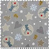 Weihnachts-Baumwoll-Druck, Weihnachtsmotive, mehrfarbig,