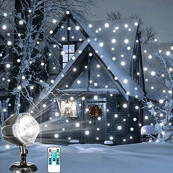 Projecteur LED Mouvement Flocon de Neige Lumineux, YUMOMO Lumiere  Decoration de Projecteur Pere Noel Exterieur 917bad9c042e