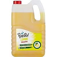 Amazon Brand - Presto! Dishwash Gel - 5 L (Lemon)