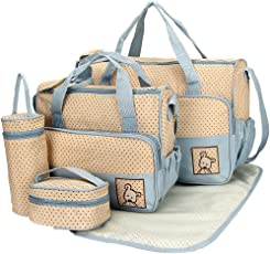 Baybee Kwicky Premium Quality Baby Diaper Bag / Mother Bag / Maternity Hand Bag 5 PC Set