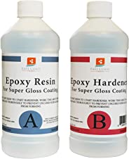 East Coast Resin Epoxy Crystal Clear Kit For Super Gloss Coating And Tabletop - 32Oz
