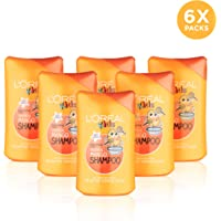 L'Oréal Kids Extra Gentle 2-in-1 Tropical Mango Shampoo 250ml Pack of 6