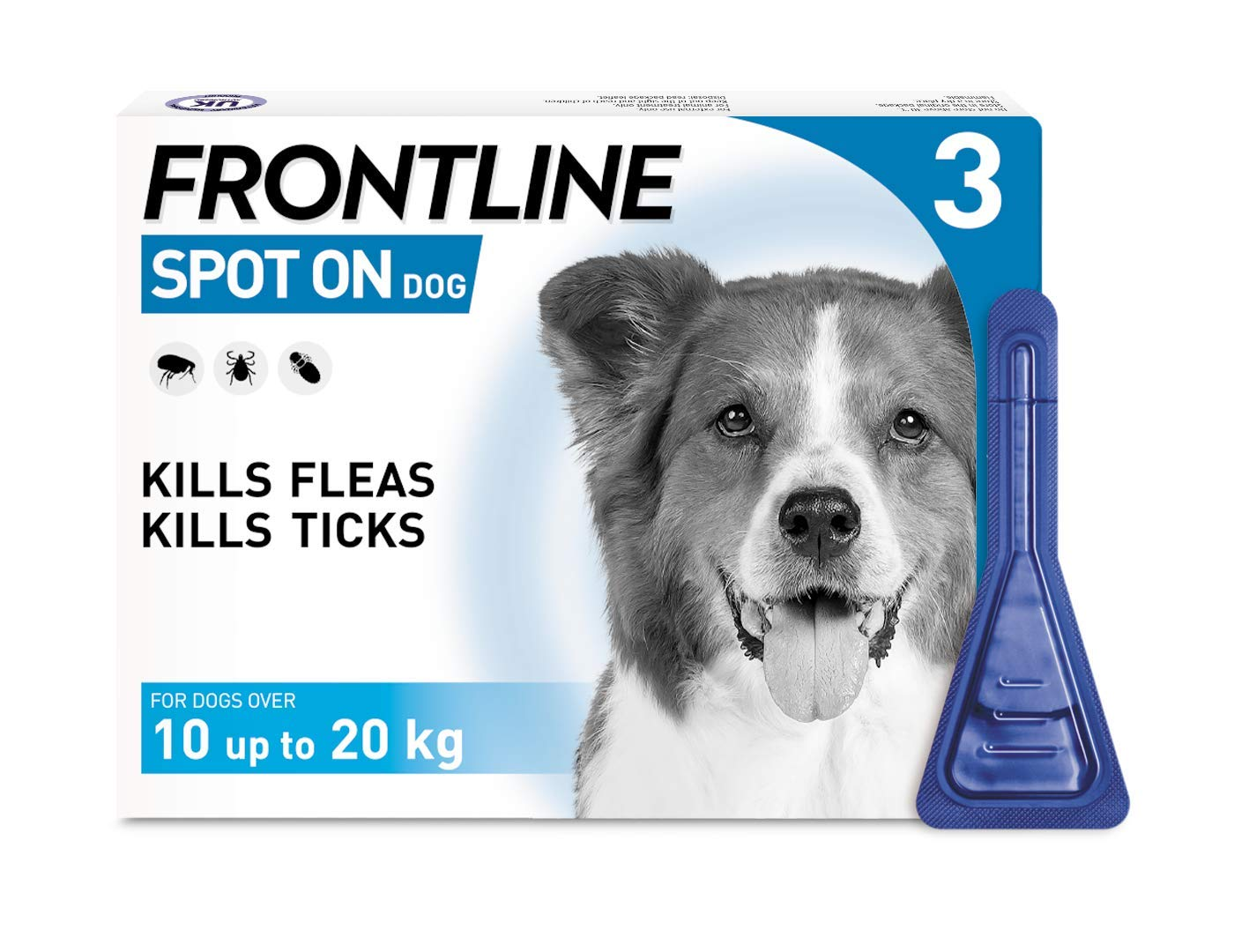 Frontline Spot On Flea and Tick Treatment for Medium Dog (10-20kg) 1