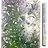 Lemon Cloud 3D Fensterfolie 90x200 Sichtschutzfolie für Fenster Fenstertüren, Dekoration und Sichtschutz, Sonnenschutz, Tulpe Folie für Fenster, 90cmx200cm