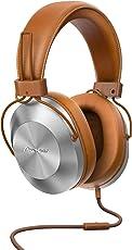 Pioneer Over-Ear Kopfhörer, SE-MS5T-T, High-Res Audio Wiedergabe, Freisprechfunktion, hoher Tragekomfort, hohe Klangqualität, für Smartphone, Tablet, Hifi Anlage, Aluminium Design, Braun, 1500276