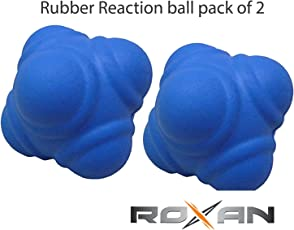 Roxan Rubber Reaction Ball Pack of 2 (Color May Vary)