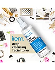 Irem Deep Cleansing Facial Toner for all skin types - Pore minimizing, Soothing & Hydrating contains Witch hazel, Aloe vera, Panthenol, Allantoin, Glycolic and more, 100ml