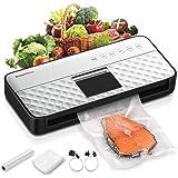 Bonsenkitchen Macchina Sottovuoto per Alimenti Automatica, Professionale Macchina per Sottovuoto per Alimenti Macchina Sigill