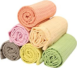 100%Cotton, Solid Pastel Lovely Set of 6 Kitchen Towels Size 41x61CM