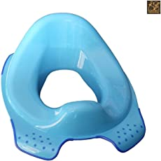 IndusBay Kids Potty Training Toilet Seat Cover for Kids - Anti Slip - Comfortable & Safe for Toddlers & Babies - Blue