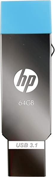 HP HPFD302M 64GB OTG Flash Drive (Sliver)