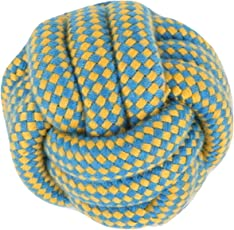 PetSutra Dog Rope Toys for Chewing and Teething Dogs & Puppies (Multiple Colors) (Multi Designs) (Rope Ball Toy)