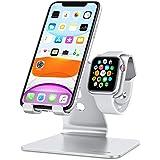 OMOTON 2 in 1 Supporto per Apple Watch, Stand Tavolo per iPhone e iWatch, Dock per Apple Watch SE/6/5/4/3/2/1(38 mm/40 mm/42