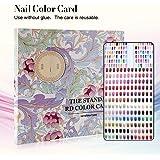 120 kleuren nailart display kleurenkaart boek, salon gel kleuren display nagellak patroon designs nageltips geheugen gereedsc
