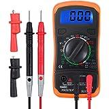 Proster Multimetro Digitale/Mini Multimetro Tester Misuratore Digitale Manual Range Test DMM DC Corrente DC AC Voltaggio Resistenza con LCD Retroilluminazione