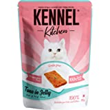 Kennel Kitchen Tuna in Jelly,12 x 80g Each. Grain Free Wet Cat Food for Adults and Kittens,