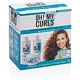 Oh! My Curls - Trattamento Professionale Idratante e Nutriente per Capelli Ricci Crespi, Disidratati e Opachi - Contiene Sham