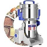 Moongiantgo Elektrische graanmolen, 800 g, maas 50 – 300, roestvrij staal en commerciële motor, 2500 W, 36000 omw/min, voor g