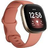 Fitbit Versa 3 - Smartwatch voor een actieve levensstijl met ingebouwde gps, minuten in actieve zones, spraakbediening en tot