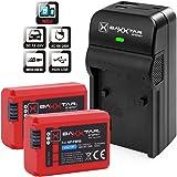 Baxxtar Razer 600 II Ladegerät 5in1 mit (2x) Ersatz für Akku Sony NP-FW50 (echte 1080mAh) Sony DSC RX10 - Alpha 6000 6300 6500 Alpha 7 7R 7S NEX 3 5 6 7 SLT A55 A3000 usw - USB-Ausgang für Smartphone usw.