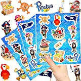 German Trendseller 144 x Piraten Kinder Sticker - Set┃ NEU ┃ Mix ┃ Kindergeburtstag ┃ Mitgebsel ┃ Piraten Party ┃ 12 Bögen