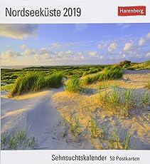Nordseeküste - Kalender 2019: Sehnsuchtskalender, 53 Postkarten