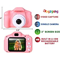 AVP Toyzgang Cute Mini 2.0 Inch Colour IPS Screen 8MP Rechargeable HD Video Record Digital Selfie Camera Toys for Kids (3-10 Years, Pink)