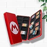 HuPop Switch Carte de Jeu Étui de Rangement Titulaire Portable Anti-Choc 24 Fente Thème du Jeu Carte de Jeu Boîte Organisateu