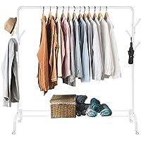 Amzdeal Portant Penderie à vêtement Mobile, Portemanteau Multifonctionnel 3 en 1 avec Crochets en Forme d'Arbre, pour…