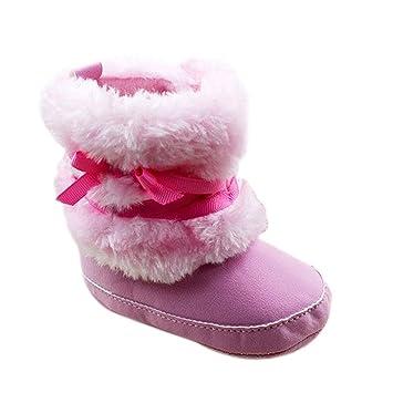 Fairy Season Baby Infant Girls Bowknot Crib Shoes Warm Fleece Prewalker  Boots 0-18M: Amazon.co.uk: Baby