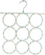 Tied Ribbons Foldable 9 Rings Multipurpose Hanger Organiser for ties, belts, scarfs Hanger
