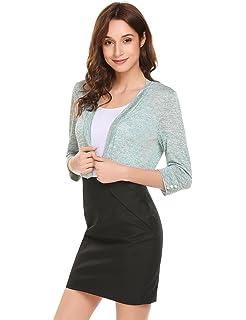 cf80d370afc9 Chigant Damen Kleid Elegant Spitzen Taillenbund Blumenkleid 3/4 Arm ...