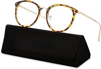 SOJOS Round Women Eyeglasses Fashion Eyewear Optical Frame Clear Glasses SJ5969